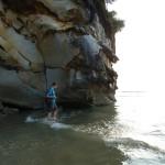Om het hoekje vonden we een 'geheim' strand