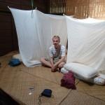 Onze slaapplaats dichtbij het longhouse