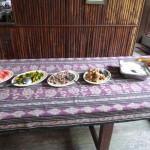 Onze eerste goede maaltijd na de Red Ape Trail