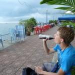 Boulevard aan de zee, ook hier hebben ze Cola