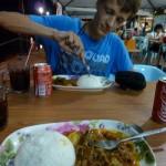 Eten bij de lokale bevolking