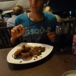 Eten in een toeristenrestaurant