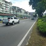 De wat luxere wijk van Kota Kinabalu