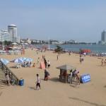 Het strand bij Qingdao