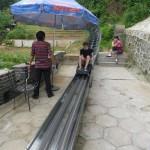 Bobslee van de Chinese muur af