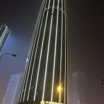 Top niet te zien door de smog