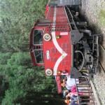 Met de trein in de bergen